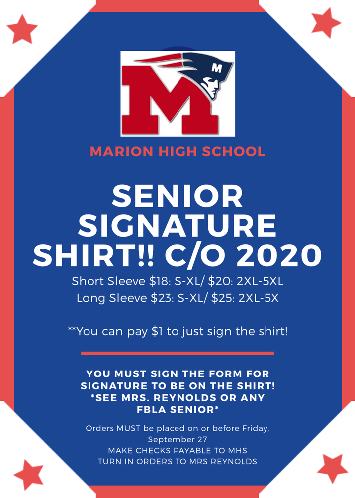 SENIOR SIGNATURE SHIRTS!!