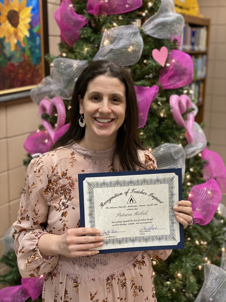 Teacher Impact Award given to Mrs. Patricia Rebick