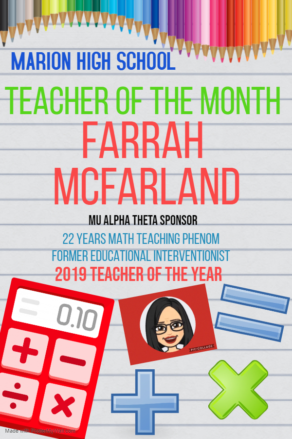 MHS TEACHER OF THE MONTH