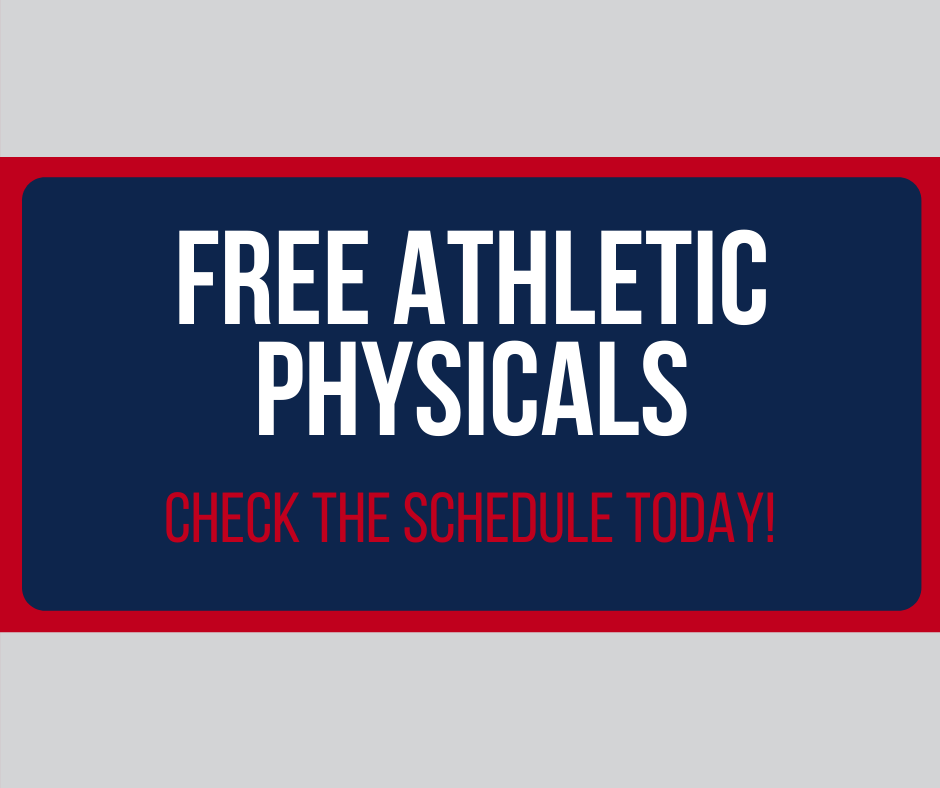 Schedule set for free athletic physicals