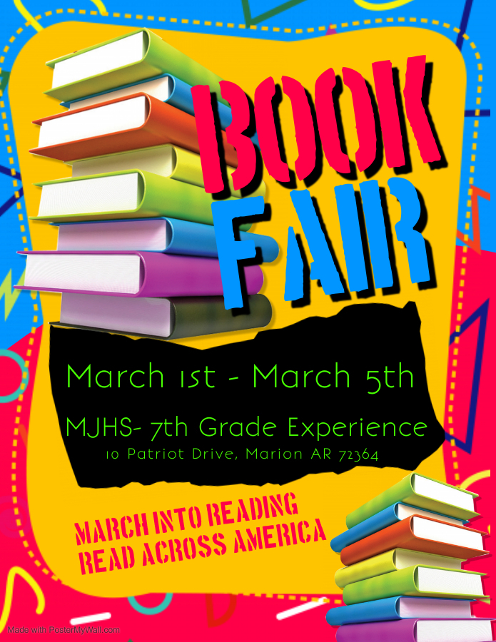 7th Grade Book Fair Coming Up! Let's MARCH Into Reading!!