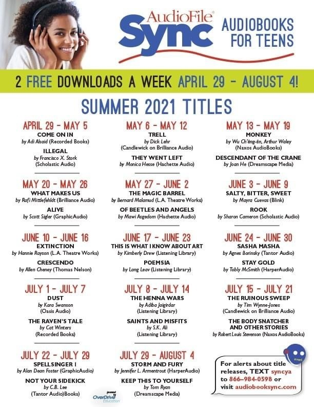 FREE Audiobooks For Teens 13+ #RISEarkansas