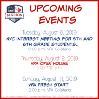 VPA Upcoming Events