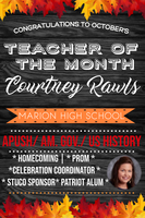 OCTOBER TEACHER OF THE MONTH
