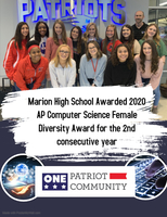 Marion High School Awarded 2020 AP Computer Science Female Diversity Award for the 2nd consecutive year