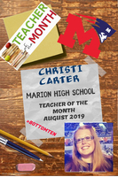 MHS TEACHER OF THE MONTH: CHRISTI CARTER