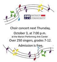 7-12 CHOIR CONCERT OCT. 3 @ MPAC