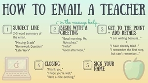 How to email a teacher 👩‍🏫