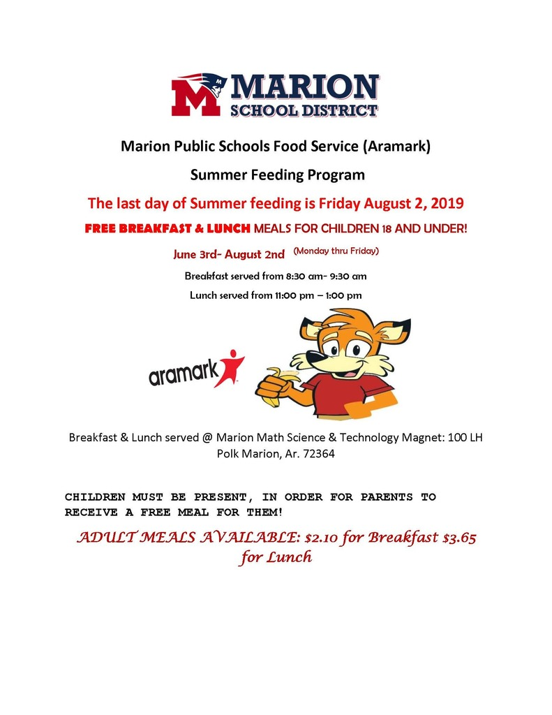 Last day of summer feeding program