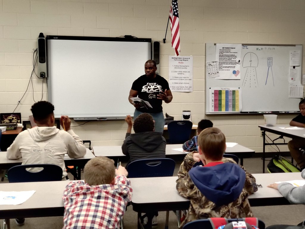 Students met with men from around the community to learn about being a better person as they grow up
