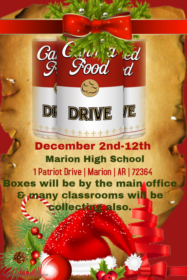 MHS Canned Food Drive