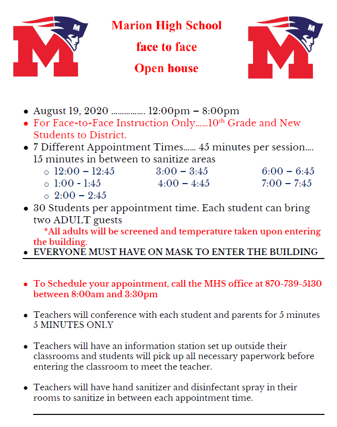 mhs open house