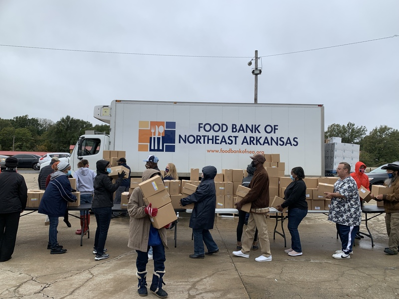 Marion School District Partners with Dominion World and NEA Foodbank