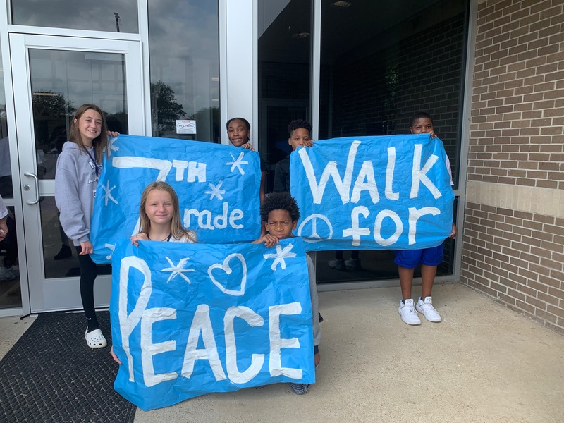 MJHS Celebrates Arkansas Peace Week with Peace Walk