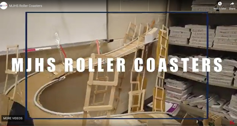 MJHS Roller Coaster Construction