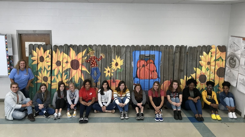 MHS Art Students Paint Murals